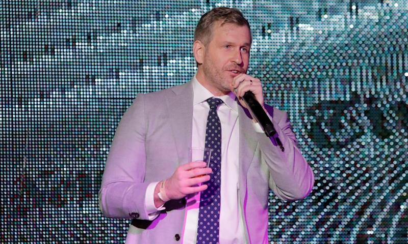 "Mike Cernovich addresses attendees at the ""A Night for Freedom"" event in Manhattan, New York, U.S., January 20, 2018. Picture taken January 20, 2018. REUTERS/Andrew Kelly"
