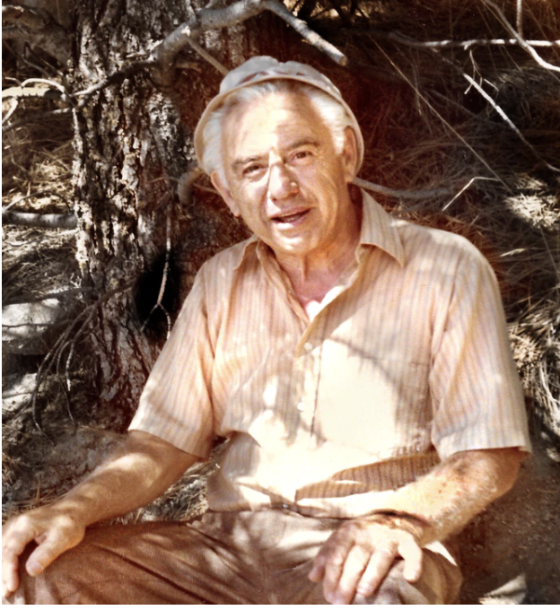 Charles Kraus' father, Harold Kraus, after he retired from the IRS, in Nevada.