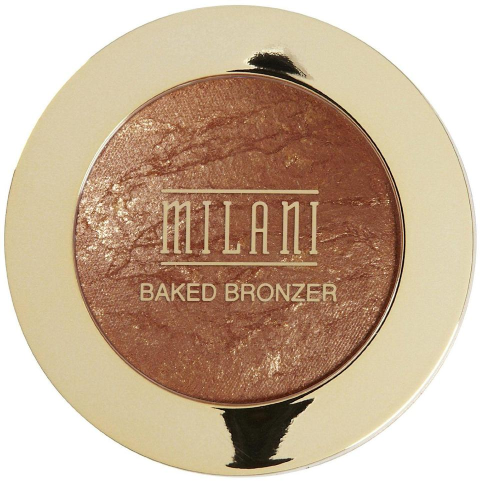 "<h2><h3>Milani Baked Bronzer<br></h3></h2><br>""This bronzer goes on super smooth and doesn't require you to use a lot of product. I love that it provides a natural highlight and glow that lasts all day. I have very sensitive skin, and the quality of the bronzer is excellent and has never caused me to break out. It also comes with a brush and mirror component for you to use on the go, which is a nice bonus."" — Jasmine Johnson, media strategist <br><br><strong>Milani</strong> Baked Bronzer, $, available at <a href=""https://go.skimresources.com/?id=30283X879131&url=https%3A%2F%2Fwww.ulta.com%2Fbaked-bronzer%3FproductId%3DxlsImpprod17081059"" rel=""nofollow noopener"" target=""_blank"" data-ylk=""slk:Ulta"" class=""link rapid-noclick-resp"">Ulta</a>"