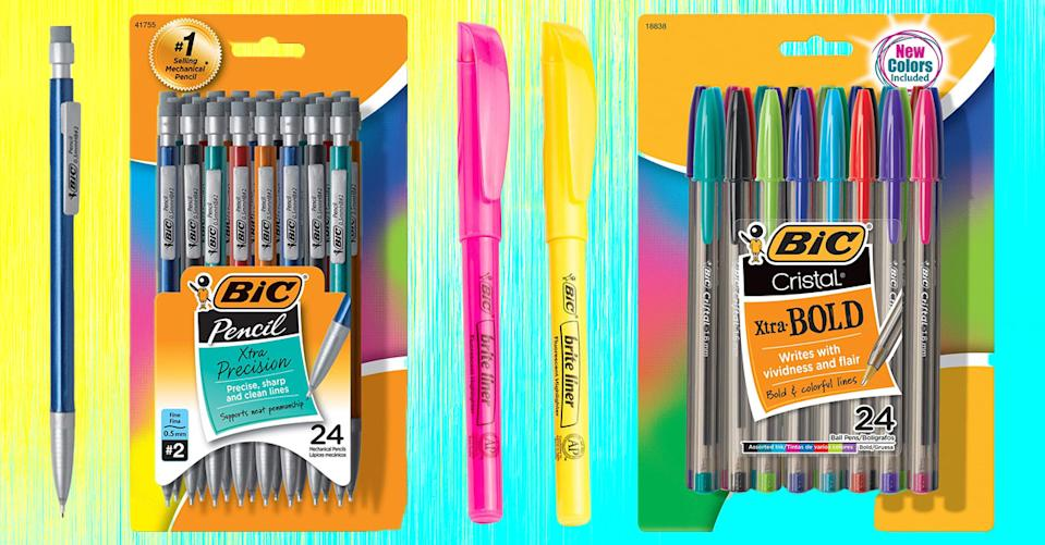 Color your world! Bic writing tools — pens, pencils, markers and more — are all on sale today. (Photo: Amazon)