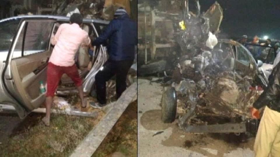7 killed as car collides with tanker on Yamuna Expressway