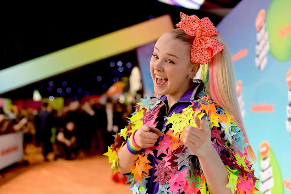 LOS ANGELES, CA - MARCH 23:  JoJo Siwa attends Nickelodeon's 2019 Kids' Choice Awards at Galen Center on March 23, 2019 in Los Angeles, California.  (Photo by Matt Winkelmeyer/Getty Images)