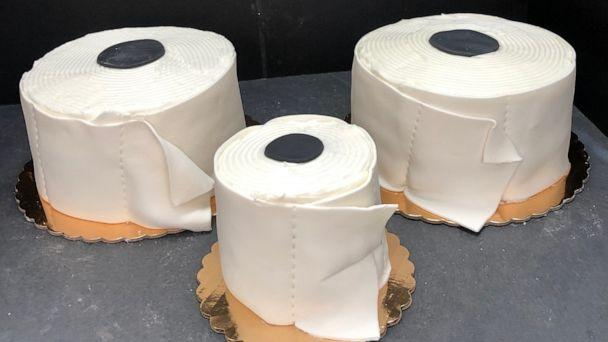 PHOTO: Traub's Bakery is selling toilet paper cakes, hoping to bring costumers smiles during an uncertain time. (Traub's Bakery)