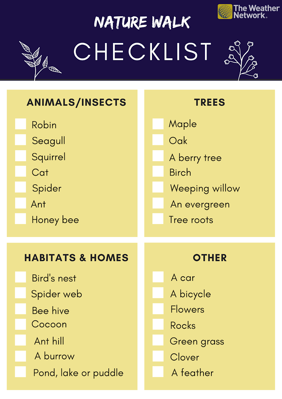 Grey and Blue Simple Leaves Checklist List (2)