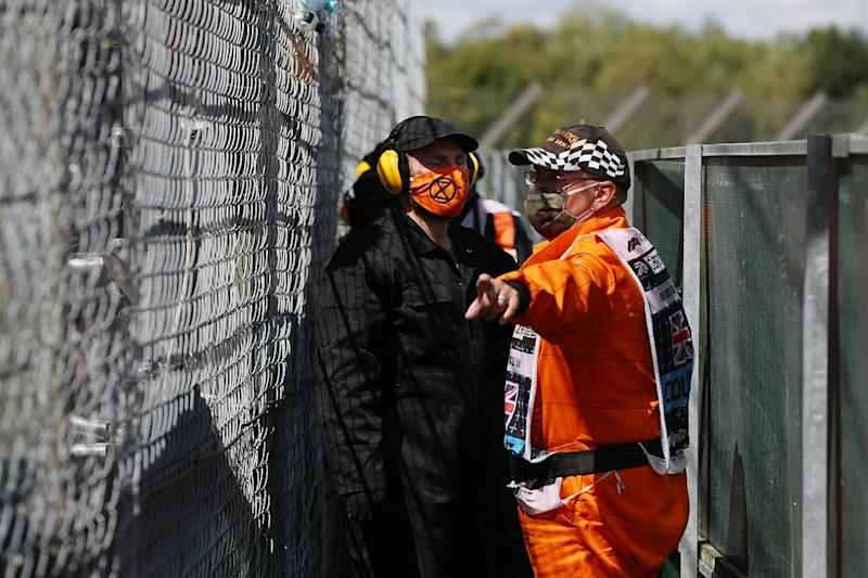 Four protesters arrested at British GP