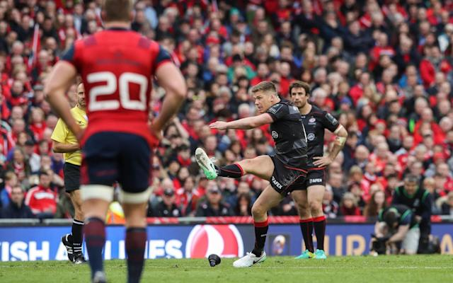 <span>Owen Farrell was excellent from the tee</span> <span>Credit: Rex </span>