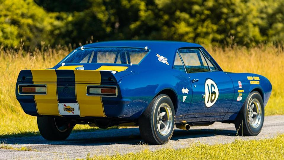 Penske Racing's famed driver Mark Donohue was the one who primarily campaigned this car. - Credit: Photo by Dynamic Photowerks LLC., courtesy of Gooding & Company.