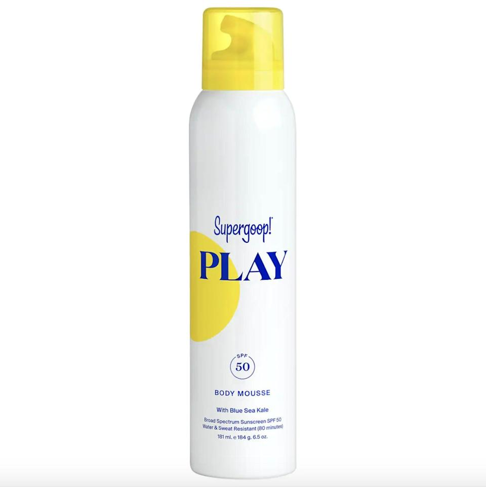 <p>Tired of sprays, sticks, and lotions? There's a mousse for you. Try <span>Supergoop! PLAY Body Mousse SPF 50 with Blue Sea Kale</span> ($34), which has a whipped-cream-like texture that'll make reapplying sunscreen ten times more fun.</p>