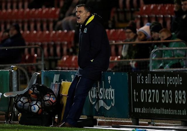 Soccer Football - FA Cup Second Round Replay - Crewe Alexandra vs Blackburn Rovers - The Alexandra Stadium, Crewe, Britain - December 13, 2017 Blackburn Rovers Manager Tony Mowbray Action Images/Craig Brough