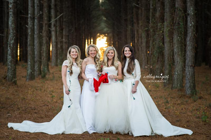 Four Sisters Staged a Shoot in Their Wedding Dresses to Honor Their ...