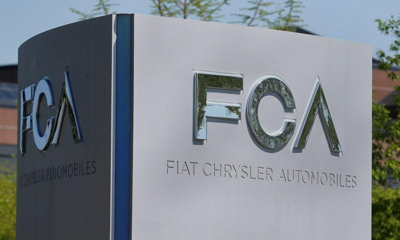FILE PHOTO: A Fiat Chrysler Automobiles sign is seen at the U.S. headquarters in Auburn Hills, Michigan,