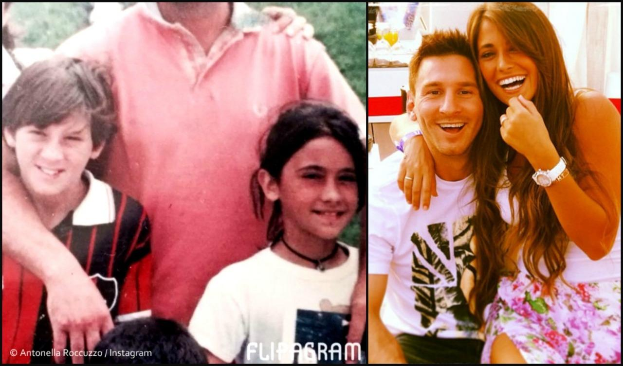 Messi And Antonella As Kids