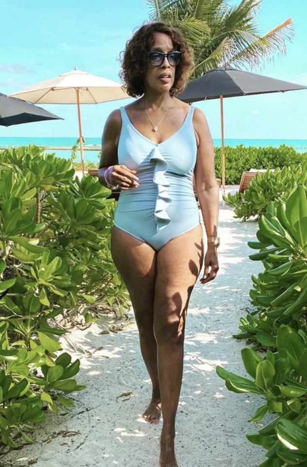 Gayle King has rocked a one piece while on holidays with her niece. Photo: instagram/gayleking