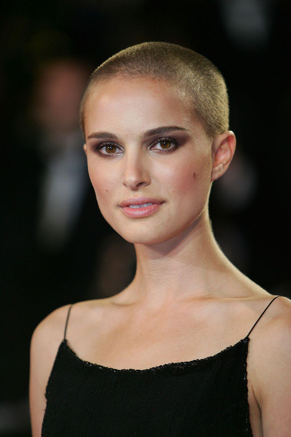 <p>In 2005, fans were shocked with Portman debuted a shaved head on the red carpet. The look, it turns out, was for her role in<em> V for Vendetta</em>.</p>