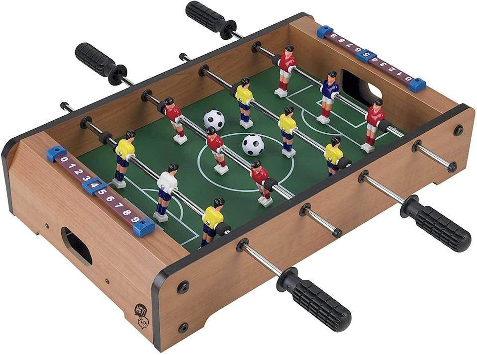 <p>Everyone could use this fun <span>Tabletop Foosball Game</span> ($22, originally $70) in their life.</p>