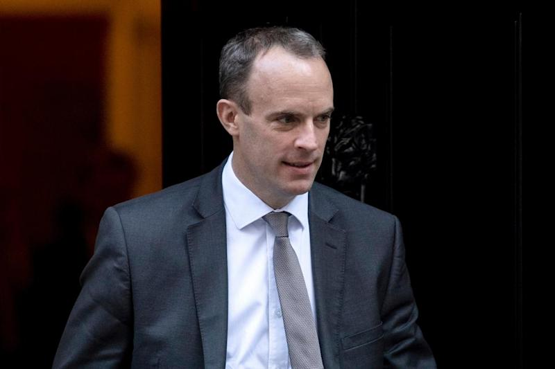 Brexit secretary Dominic Raab has rushed to Brussels for crunch talks with Michael Barnier (Will Oliver/EPA)