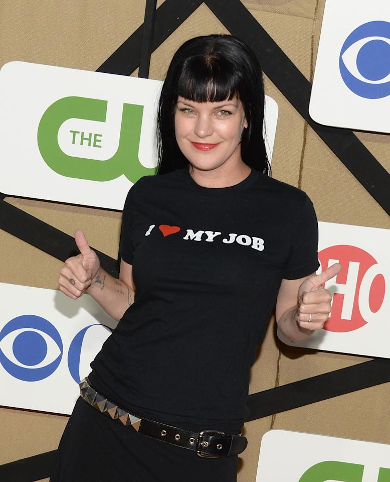 LOS ANGELES, CA - JULY 29: Pauley Perrette attends the CW, CBS And Showtime 2013 Summer TCA Party on July 29, 2013 in Los Angeles, California. (Photo by Jason Kempin/Getty Images)