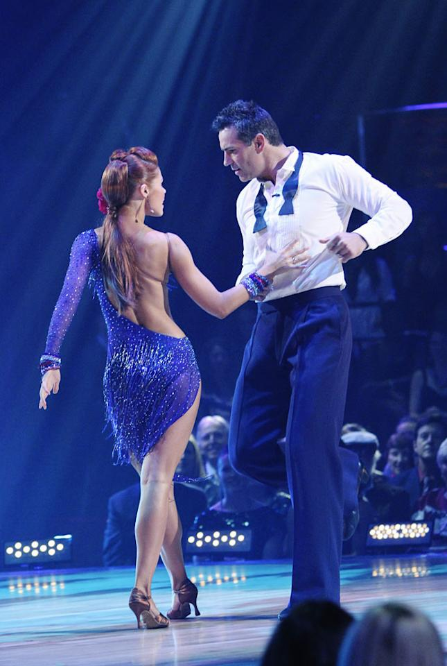 "Kurt Warner and Anna Trebunskaya perform on ""Dancing with the Stars."""