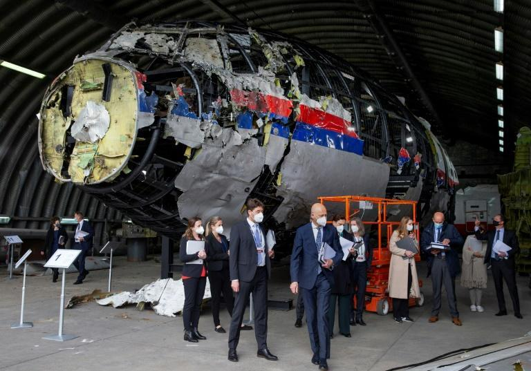 """The judges visited the shrapnel-pierced wreckage of flight MH17 for the first time in May in what they described as an """"emotionally loaded"""" day"""