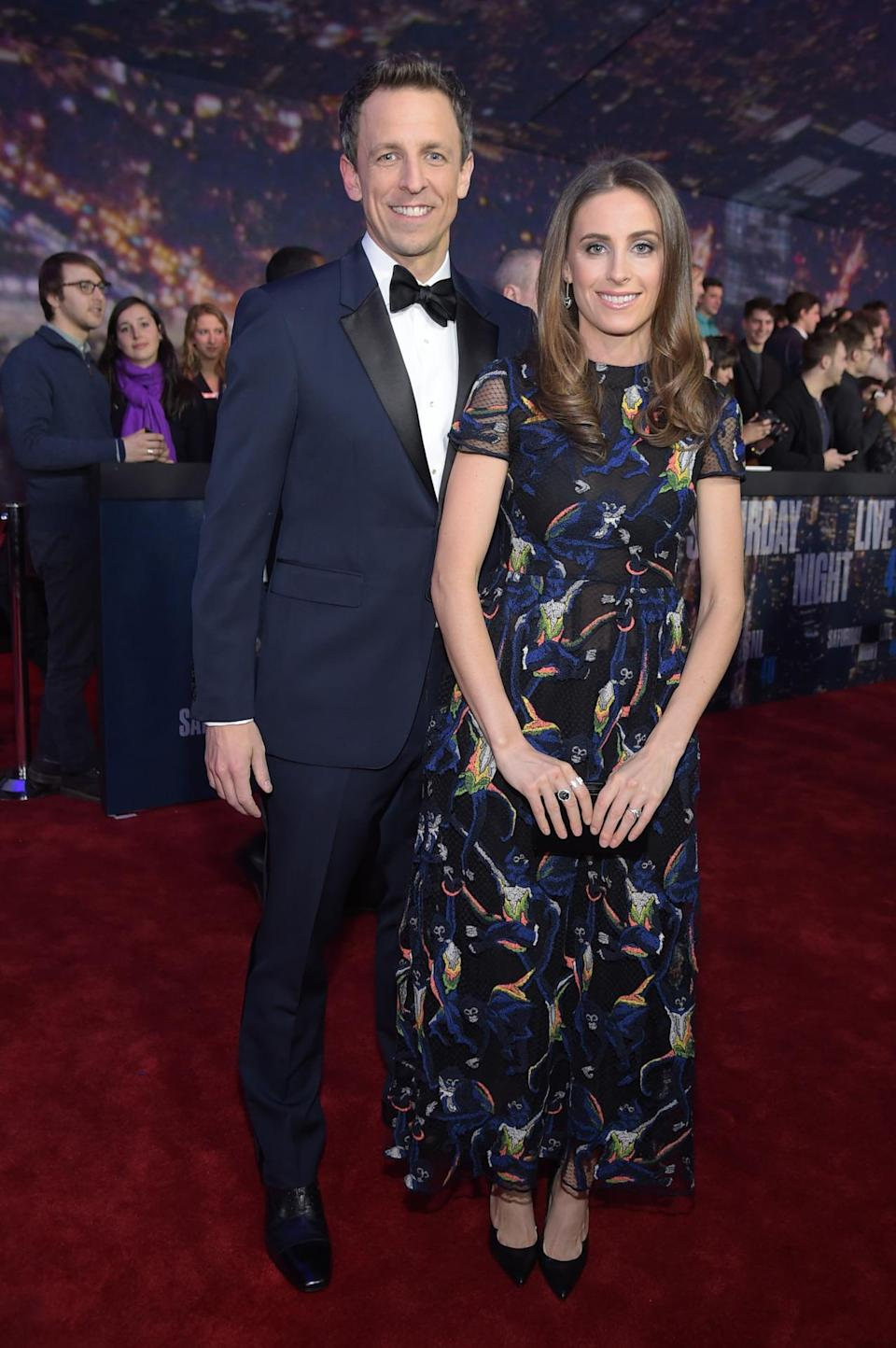 Seth Meyers might have his own late night talk show, but it's his wife, lawyer Alexi Ashe, with all the style.