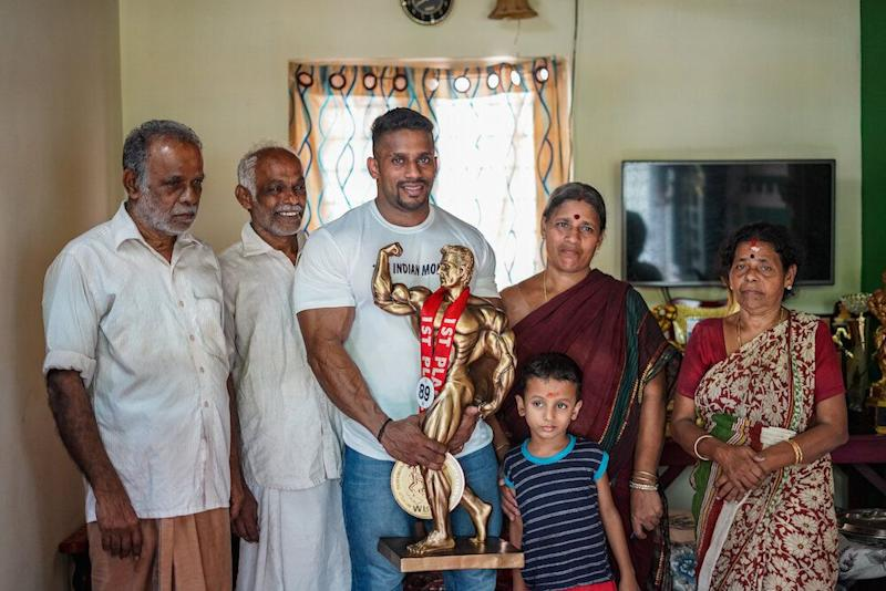 Chitharesh with his family members. (Photo: Manu Paul)