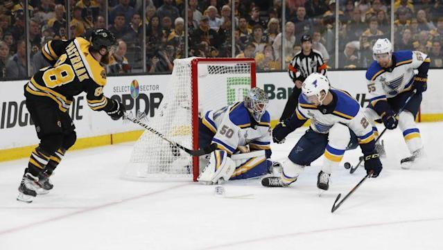 """The Bruins' """"Perfection Line"""" wasn't perfect in Game 1, and Joe Haggerty writes they're looking to rebound after having """"a tough time finding their game"""" Monday night."""