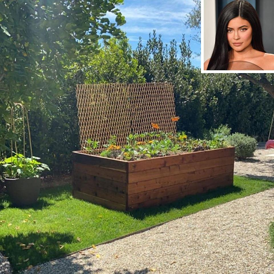 """<p>The youngest <em>Keeping Up With the Kardashians</em> star is a big fan of butterflies — so it only made sense that a couple of faux-monarchs would be planted in the garden at her home. </p> <p>This garden is actually located right next to Jenner's daughter <a href=""""https://people.com/parents/kris-jenner-kylie-jenner-stormi-playhouse-christmas-present/"""" rel=""""nofollow noopener"""" target=""""_blank"""" data-ylk=""""slk:Stormi's playhouse"""" class=""""link rapid-noclick-resp"""">Stormi's playhouse</a>, which Jenner's mom, Kris, bought her for Christmas — an exact replica of the one her girls had growing up. </p>"""