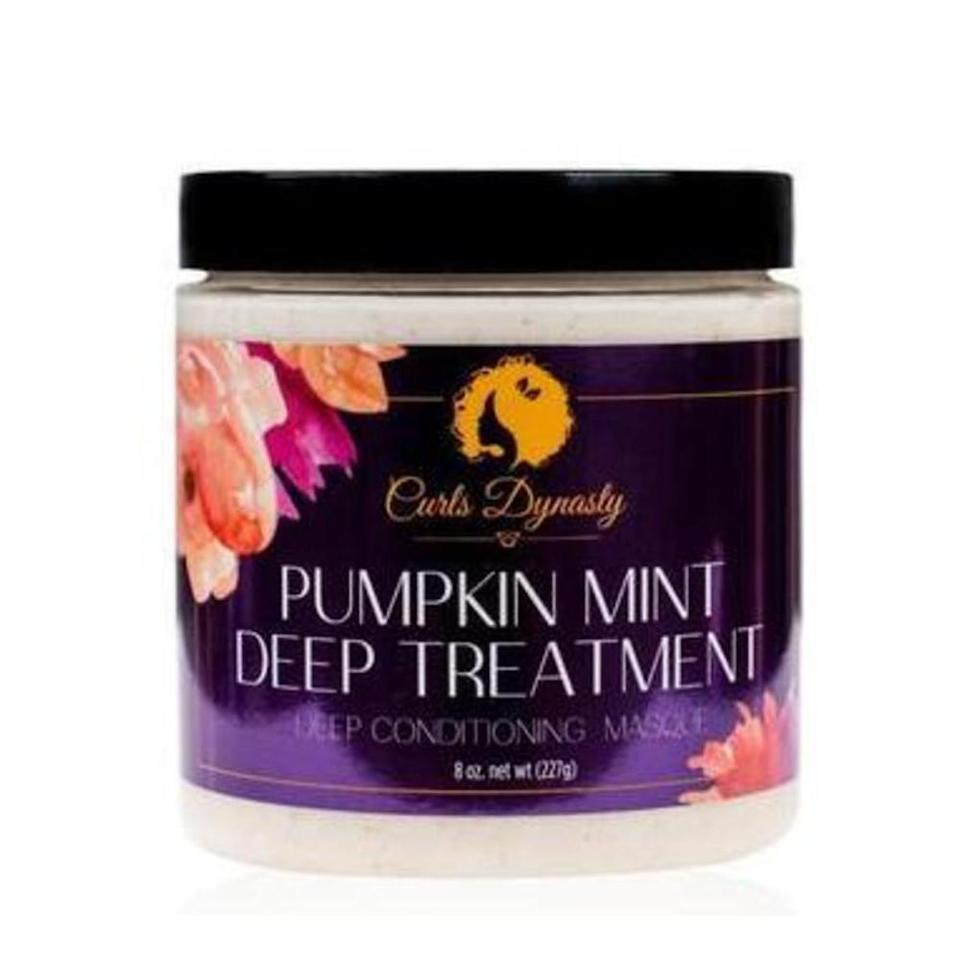 """Formulated with aloe vera juice, soybean oil, and pumpkin seed oil, the Pumpkin Mint Deep Treatment from Curls Dynasty is a must in your washday routine. <em>Allure</em> editor Jihan Forbes loves this treatment when her curls begin to feel dry. """"When I use a hair mask that's mostly natural ingredients, my hair always comes out looking better on wash day,"""" she says. """"This gives my hair that unparalleled feel — plus, it smells like a delicious lemon cookie."""""""