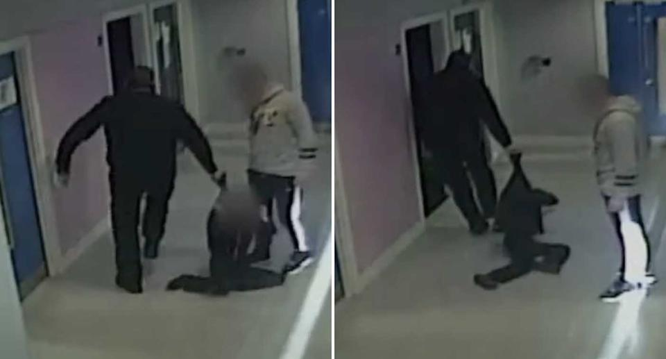 Ex-police officer Christopher Cruise is filmed dragging a 10-year-old autistic boy by the collar at a school.