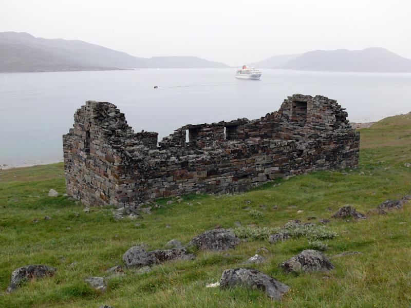 Hvalsey Church, an abandoned church in the Greenlandic Norse settlement, is located in the southern part of the country. The church serves as the last written record of Viking life in Greenland, a wedding in September 1408. It is also the best preserved record of the Greenlandic Norse.