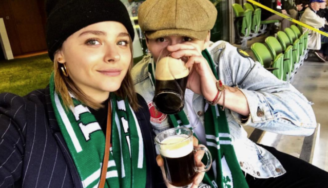 "<p>""Dublin. You were amazing,"" wrote the eldest Beckham kid along with a photo in which he's drinking a pint with his on-again girlfriend, Chloë Grace Moretz, at a rugby match. Was he talking about the city, the beer, or the company? Hard to tell. (Photo: <a href=""https://www.instagram.com/p/BaASVrkj8h9/?hl=en&taken-by=brooklynbeckham"" rel=""nofollow noopener"" target=""_blank"" data-ylk=""slk:Brooklyn Beckham via Instagram"" class=""link rapid-noclick-resp"">Brooklyn Beckham via Instagram</a>) </p>"