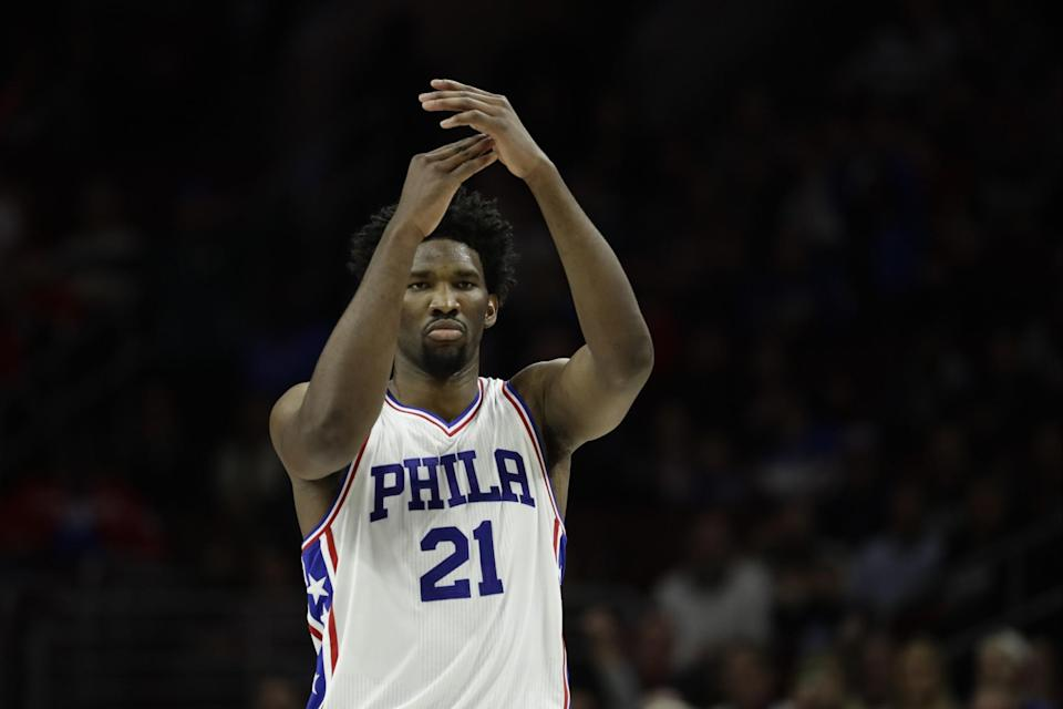 Joel Embiid issues a technical foul to the NBA's coaches for insufficient Process trust. (AP)