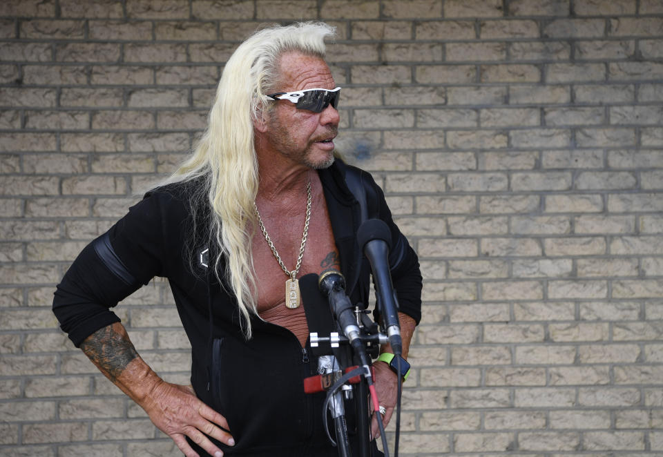 Dog the Bounty Hunter injured ankle searching for Brian Laundrie in Florida and has returned home to Colorado.