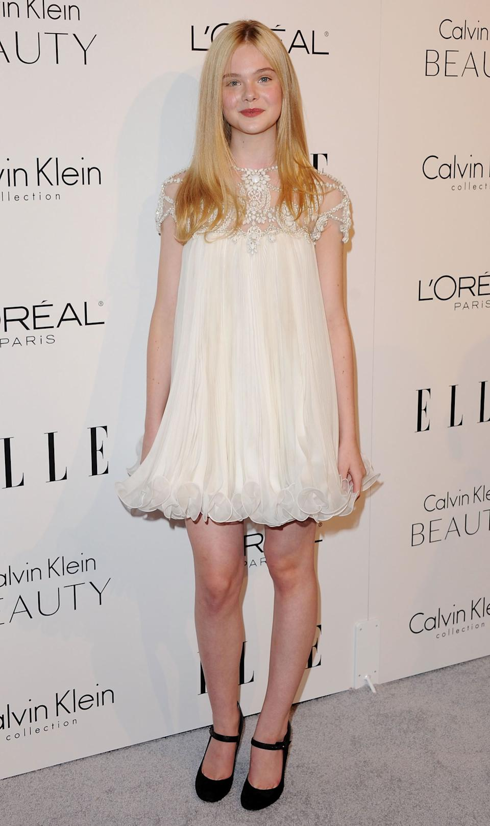 Fanning at the 17th Annual ELLE Women In Hollywood Celebration at The Four Seasons Hotel in Beverly Hills.