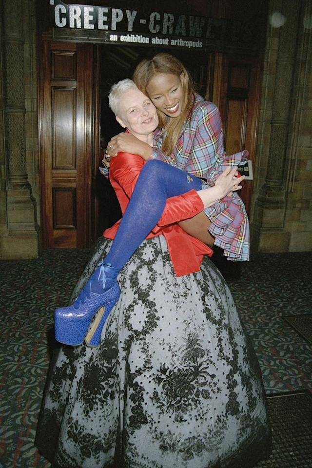 <p>Naomi Campbell and Vivienne Westwood.</p>