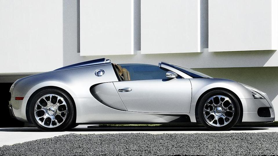 The high-powered convertible made its debut at Pebble Beach back in 2008. - Credit: Bugatti
