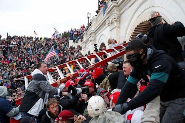 PHOTO: Pro-Trump protesters storm the U.S. Capitol, Jan. 6, 2021, as lawmakers met to certify the election, in Washington, D.C. (Shannon Stapleton/Reuters)