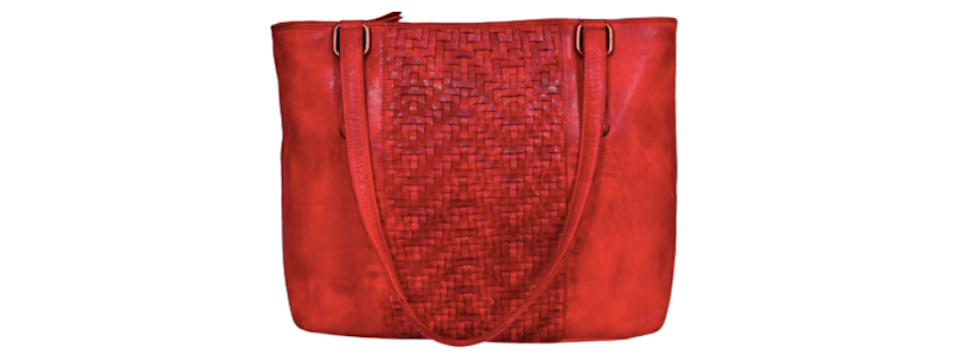 This pretty red bag is a statement piece. (Photo: Amazon)