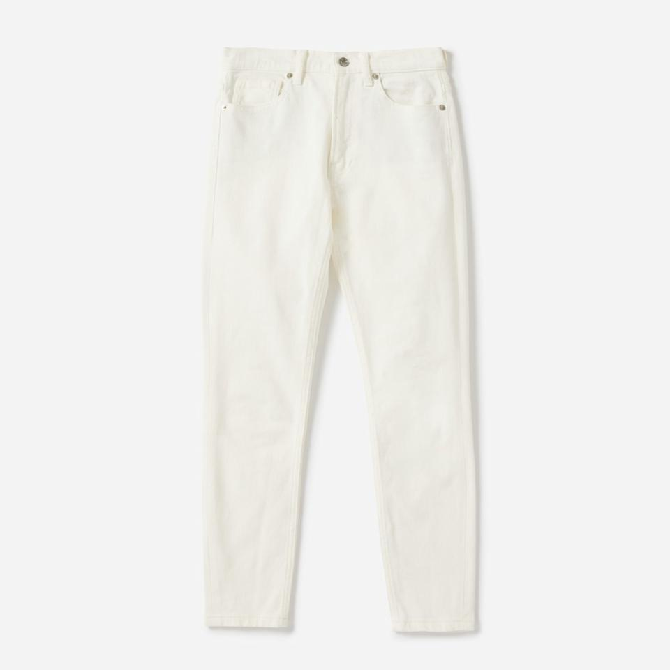 "<p>Everlane is all about transparency when it comes to price and factories, but rest assured, these bone-white jeans were expressly designed to <em>not</em> be see-through.<br /><a rel=""nofollow"" href=""https://fave.co/2PefnHC""><strong>Shop it:</strong></a> Everlane Mid-Rise Skinny Ankle Jean, $50 (originally $68), <a rel=""nofollow"" href=""https://fave.co/2PefnHC"">everlane.com</a> </p>"