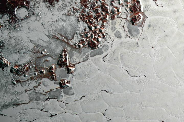 best space photos pluto ice mountains