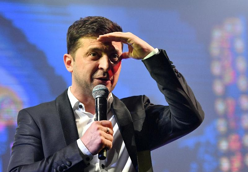 Zelensky's real presidential bid started out as a long shot but, on the back of popular discontent with the political class, he has leapt to pole position (AFP Photo/Genya SAVILOV)