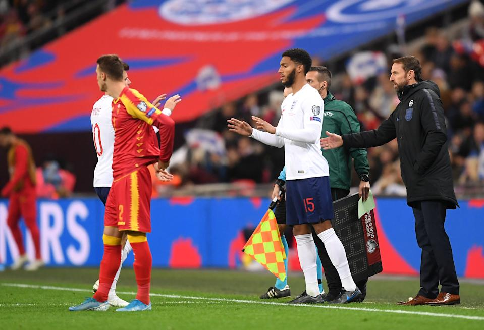 Gomez was booed by a section of England fans following his introduction. (Photo by Michael Regan/Getty Images)