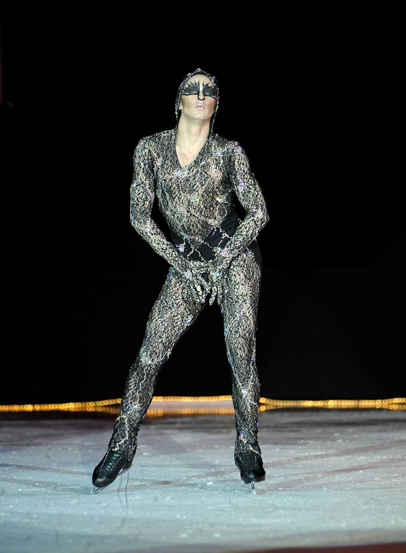 Performing at the Ice Theatre of New York: Dare to Be Different gala at Sky Rink, Chelsea Piers, on Oct. 24, 2011, in New York City.