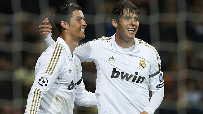 Kaka Cristiano Ronaldo Real Madrid APOEL Champions League