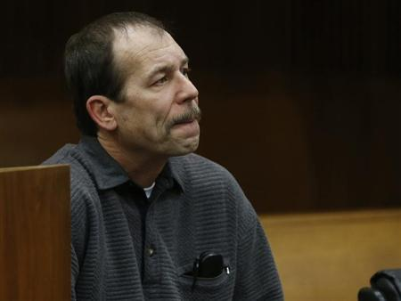 Theodore Wafer sits in the court room during his arraignment in Detroit, Michigan