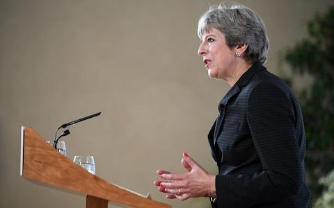 Prime Minister Theresa May delivering a speech on Brexit in Florence - Credit: PA