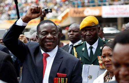 Zimbabwe's former vice president Emmerson Mnangagwa arrives ahead of his inauguration ceremony to swear in as president in Harare, Zimbabwe, November 24, 2017. REUTERS/Siphiwe Sibeko