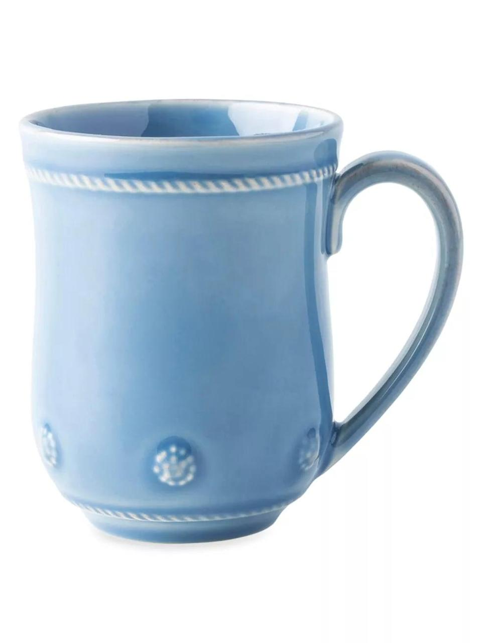 <p>Achieve your cottagecore dreams with this charming <span>Berry & Thread Chambray Mug<br> </span> ($30).</p>