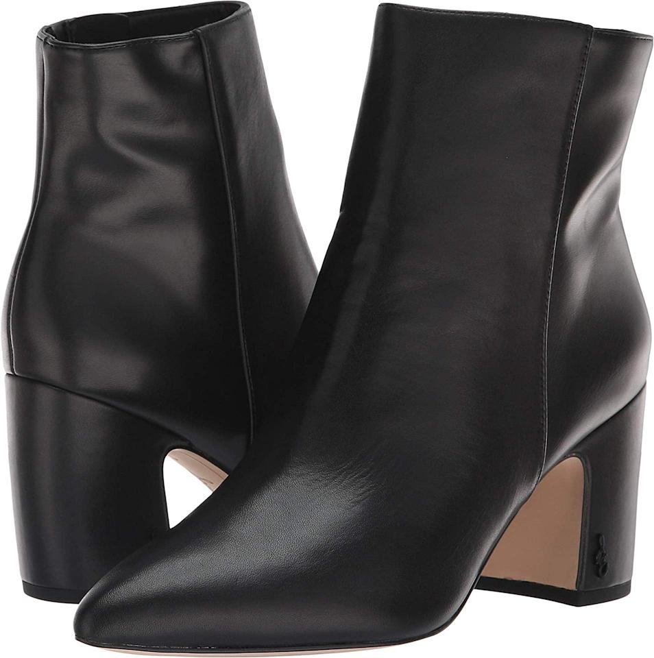 "<p>These sleek <a href=""https://www.popsugar.com/buy/Sam-Edelman-Hilty-Boots-381462?p_name=Sam%20Edelman%20Hilty%20Boots&retailer=amazon.com&pid=381462&price=160&evar1=fab%3Aus&evar9=45460850&evar98=https%3A%2F%2Fwww.popsugar.com%2Fphoto-gallery%2F45460850%2Fimage%2F45460851%2FSam-Edelman-Hilty-Boots&list1=shopping%2Cgifts%2Camazon%2Choliday%2Cchristmas%2Cgift%20guide%2Csam%20edelman%2Cfashion%20gifts%2Cgifts%20for%20women&prop13=api&pdata=1"" rel=""nofollow"" data-shoppable-link=""1"" target=""_blank"" class=""ga-track"" data-ga-category=""Related"" data-ga-label=""https://www.amazon.com/dp/B07F5GJ6M6/ref=twister_B07FDR4ZBG?th=1&amp;psc=1"" data-ga-action=""In-Line Links"">Sam Edelman Hilty Boots</a> ($160) can be styled many different ways.</p>"