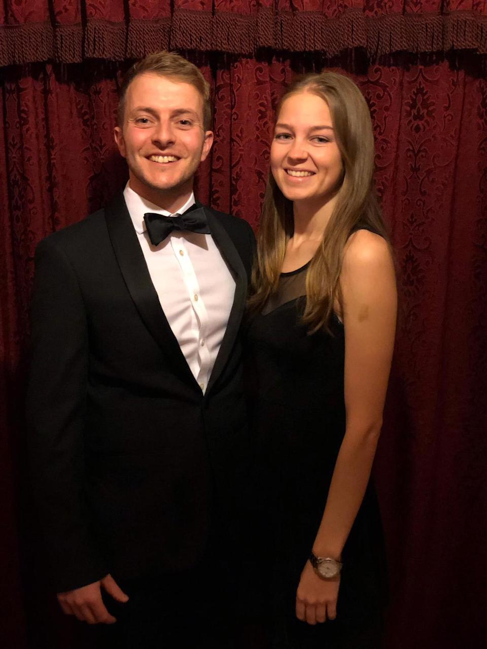 Emma Bond with pictured with her fiance, Edd Blake, in 2019.
